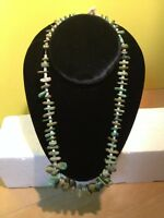 Gorgeous long Turquoise and Shell Beaded Native American necklace
