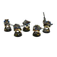 SPACE MARINES 5 sniper scouts with sniper rifles #1 PRO PAINTED Warhammer 40K