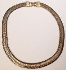 collier tour de coup vintage maille serpent plate couleur or 5271