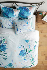 Anthropologie Alaire Blue Floral Queen Duvet and Two Standard Shams