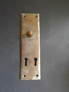 Antique Victorian   Brass double door/ chest/ face plate Rare Gibbons W`hampton