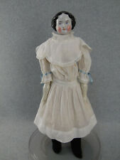 "20"" antique Civil War German China shoulder head Doll with cloth body 1850s/1860"