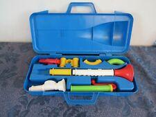 Vintage Fisher Price Crazy Combo Horn Set PreSchool Instrument #604 Incomplete