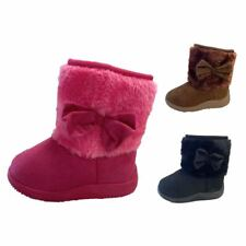 Infant Classic Baby Boots Soft Faux Fur Toddler Girl Round Toe Zippier Shoe Size