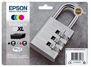 Genuine Epson T3599 Padlock (35XL) Cartridge Multipack 4 inks  WF-4730DTWF