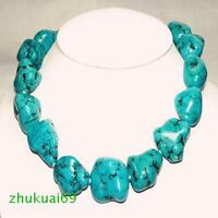 Natural stones turquoise loose beads necklace
