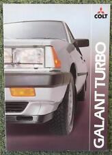 MITSUBISHI GALANT TURBO CAR SALES BROCHURE 1982 REF- 0482