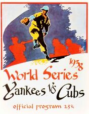 1938 WORLD SERIES PROGRAM PHOTO,YANKEES VS CUBS YANKEES WIN 4 GAMES TO 8x10