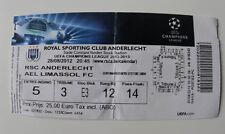 OLD TICKET CL Anderlecht Brussel Belgium AEL Limassol Cyprus