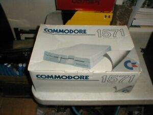Vintage COMMODORE #1571 Floppy 5.25 Disk Drive Original Box ONLY C64 C128