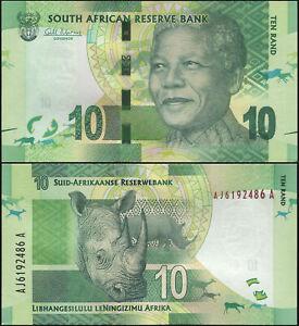 Afrique du Sud 10 Rand. NEUF ND (2012) Billet de banque Cat# P.133a