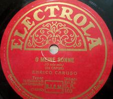 """ENRICO CARUSO """"O sole mio (O meine Sonne) / 'A Vucchella"""" Electrola 78rpm 10"""""""