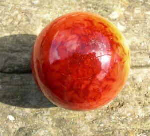 Carnelian SPHERE  253g Fiery Orange Ball Chalcedony Ancient Gemstone 57mm  S0102
