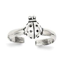 Sterling Silver Antiqued Ladybug Toe Ring - SKU #142497