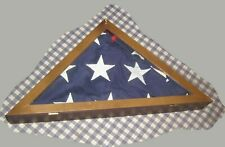 9.5' x 5' Best Us Flag + Wood Display Case,Valley Forge,Interment,Veterans, Dod