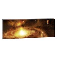 Weltraum Panorama Bild Fotoleinwand Kunstdruck Wandbild XXL 150 cm* 50 cm 075