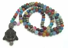 Hipchik Couture Buddha Multi Color Bead Necklace 36''