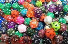 (50) Wiz Dice D20 Random Color Polyhedral Dice Set, 20 Sided Lot Game D&D RPG