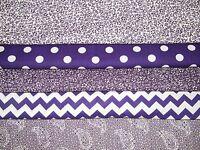 5 FQ Bundle – Purple Floral Prints 100% Cotton Quilt Crafting Fabric Fat Quarter