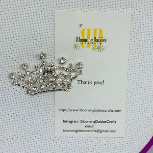 Magnetic Needle Minder Cross Stitch Rhinestone Crown / Fridge Magnet
