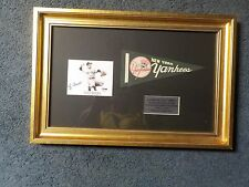 Professionally Framed Matted YOGI BERRA Autograph Signed Pennant Piece PSA COA
