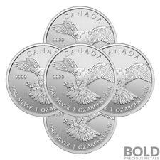 2014 Silver 1 oz Canada Birds of Prey Peregrine Falcon (5 Coins)