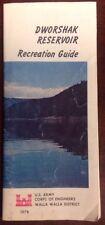 Vintage 1978 Dworshak Reservoir Recreation Guide US Army Corps OldPaperMaps.com