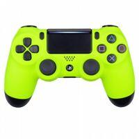 Neon Yellow Ps4 PRO Custom UN-MODDED Controller Exclusive Design CUH-ZCT2