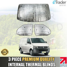 Volkswagen VW T5 INTERNAL THERMAL BLINDS Interior Blind KIT WINDSCREEN COVER 3pc