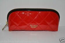 Victorias Secret RED & BLACK SMALL bag Clutch Wallet Make up cosmetic PENCIL