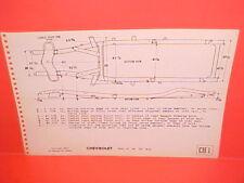 1946 1947 1948 CHEVROLET STYLEMASTER FLEETMASTER FLEETLINE FRAME DIMENSION CHART