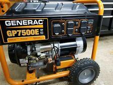 Generac GP7500E GP Series 7500 Watt Portable Generator 5943