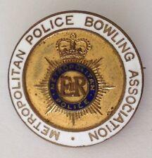 Metropolitan Police Bowling Association Club Badge Pin Rare UK Vintage (M22)