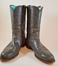WOMEN'S JUSTIN LEATHER  BOOTS GRAY EUC WORN A COUPLE 0F TIMES SIZE 7.5 B