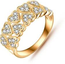 925 Silver Sterling Rose Gold Plated 22k White Diamond Ring IGL Certified 2 Cart