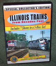 "20226 TRAIN VIDEO DVD BOX SET ""ILLINOIS TRAINS FROM DECADES PAST"" CHICAGO & MORE"