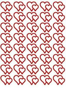 40 Double Heart Shaped Stickers, Lots of colours, Decoration, tanning tattoos