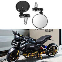 "For Honda GROM MSX125 Motorcycle Black Folding Handle 7/8"" Bar End Side Mirrors"