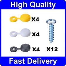 100 X Large Jaune Charnière Vis Cover Caps 17 mm Large-Pour Taille 10 G /& 12 g *