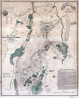 MAP ANTIQUE USA CIVIL WAR BATTLEFIELD GETTYSBURG REPLICA POSTER PRINT PAM1249