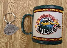 Quad City Mallards UHL Mug & Key Chain ~ Vegas Golden Knights Chicago Wolves