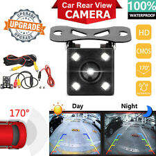 170° CMOS Car Rear View Backup Camera Reverse 4 LED Night Vision Waterproof CAM