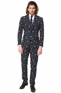 Video Game Aracde Pac-Man Suit Men Adult Costume
