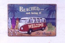 Retro Tin Sign To Beach Metal Poster Bar Pub Home Wall Art Creative Decoration