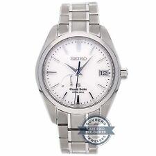 SEIKO GRAND accionamiento por resorte 41mm TITANIO Hombre Reloj de pulsera fecha