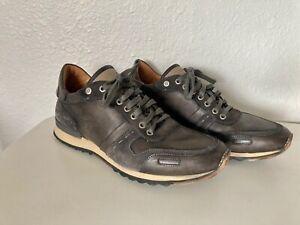 Mint Magnanni Spain Gray Leather Cristian Pueblo Shoes Sneakers US 11 11.5 EU 45