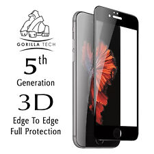 Gorilla Tech 5th Gen Full Cover Screen Protector Tempered Glass iPhone 7 Black