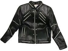 Michael Jackson Beat It Black Zipper Jacket Size Men Xs Bravado Polyurethane