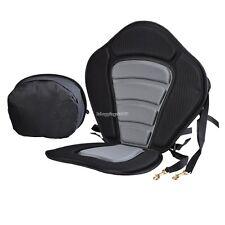 New Adjustable Padded Kayak Seat + Detachable Back Bag Canoe Kayaking Seat Top~