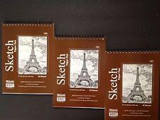 "(3) 6"" x 8"" ARTIST SKETCH BOOK PAPER PAD ~ Drawing, Illustrations, Ink, Pencil"